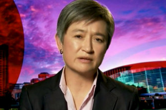 Penny Wong was restrained in her criticisms of the government.