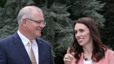 Prime Ministers Scott Morrison and Jacinda Ardern are both grappling with whether to ban Huawei's equipment.