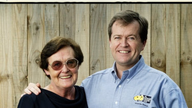 Opposition leader, Bill Shorten, and his mother, Ann, pictured in Mr Shorten's AWU days.