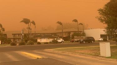 The dust storm in Mildura.