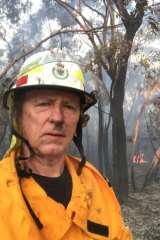 Former FRNSW Commissioner Greg Mullins as an RFS volunteer.