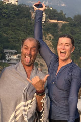Andrew Marsh and Deborah Hutton in India last year after swimming in the Ganges.