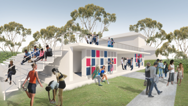 Artist impression of the proposed new change rooms at Woollahra Oval