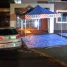 Man, 27, stabbed outside police station after 30km road rage incident