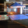 Man, 27, stabbed outside police station after 30km road rage incident