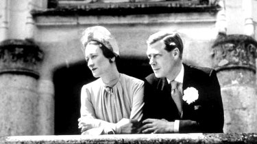 The Duchess and Duke of Windsor at their 1937 wedding, five months after Edward VIII's abdication from the British throne.
