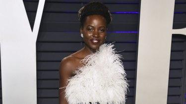 Lupita Nyong'o at the Vanity Fair Oscar Party.