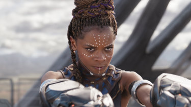 Letitia Wright in Black Panther.