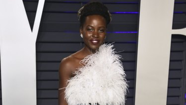 Lupita Nyong'o at the Vanity Fair Oscar Party.