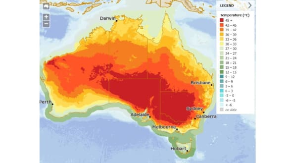 The world's 15 hottest sites on Tuesday were all in Australia