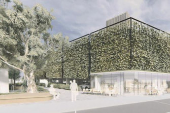 Bayside Council renders of the Morrison government's proposed commuter car park near Hampton train station.
