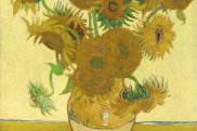 Vincent Van Gogh's all-yellow Sunflowers (1888), which is one of the two originals he painted at Arles.