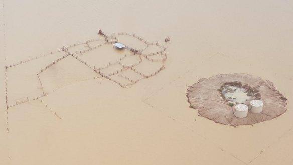 Flinders River at the 20 Mile Reserve in north-west Queensland on Thursday.