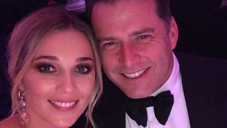 Jasmine Yarbrough with fiancee and Nine Network personality Karl Stefanovic.