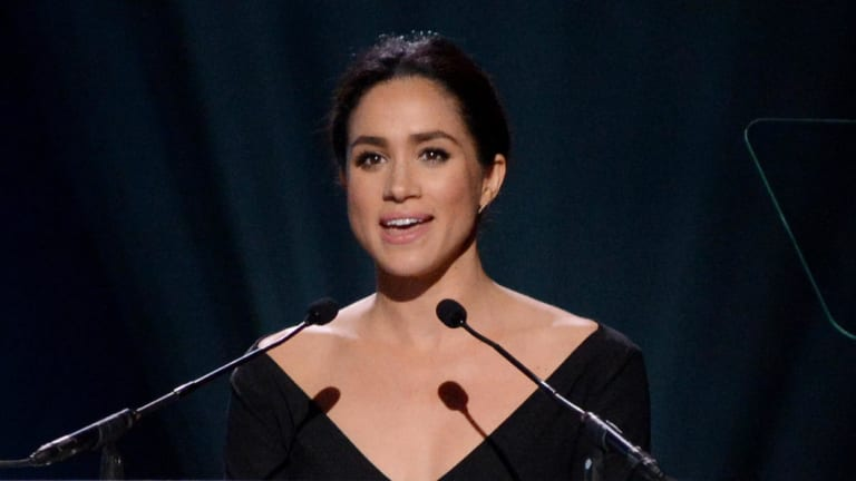 Meghan Markle at the UN Women conference in 2015 where she made this speech.