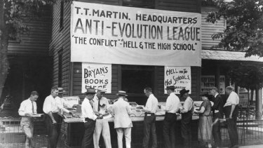 The Scopes Monkey trial, 1925.