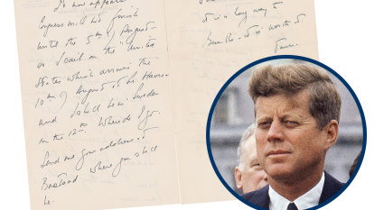 'Anxious to see you': JFK's letters to Swedish lover up for auction