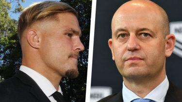 Not wavering: Todd Greenberg is under pressure to stand down Jack de Belin.