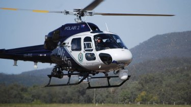 Polair joined the search for the man around Tiaro in the Wide Bay region.