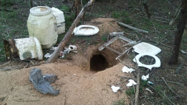 Campers near Brogo Dam were using a wombat hole as a toilet.