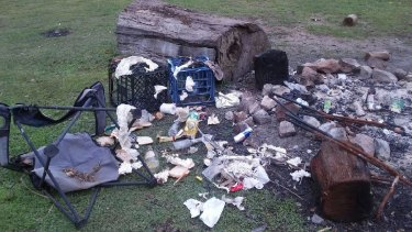 Four large bags were needed to remove all the rubbish in the Wadbilliga National Park at Nelson Creek.