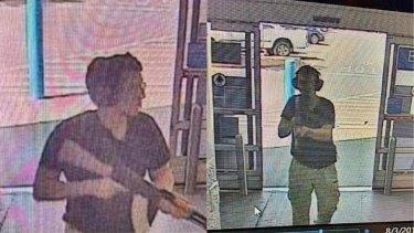 CCTV footage of the El Paso gunman.