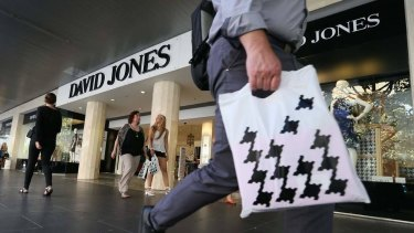 David Jones has been hit with a $437 million write-down in its value.