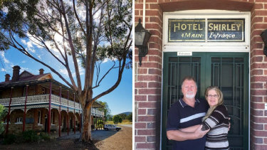 Owners of the iconic Shirley Hotel, Allan and Robyn Cox are looking for new owners of their business and building, which could see the successful applicant just paying $100 for the site.