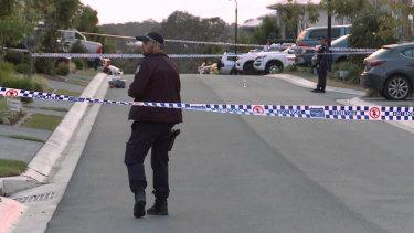 The crime scene where former high-profileMongolsmotorcycle gang member Shane Bowden was shot dead.