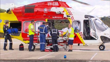 Ambulance crews on the scene at Shelly Beach.