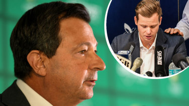 Untenable: David Peever fell on his sword on Thursday in the wake of the ethics review into Australian cricket, brought about by the ball-tampering scandal.