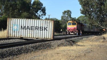 A freight train has collided with a VLine train at Barnawartha.
