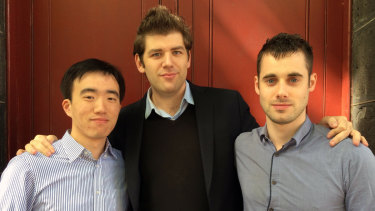 Omny Studio co-founders Long Zheng, Ed Hooper and Andrew Armstrong.
