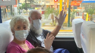 Christine and Brian Eagar in Peru on their way to Santiago.
