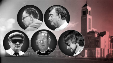 Convicted pedophile priests: Russell Vears, Terrence Pidoto, Gerald Ridsdale, Ronald Pickering and Paul David Ryan.