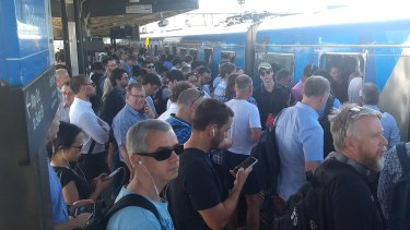 Crowds at Richmond Station as train delays bite.