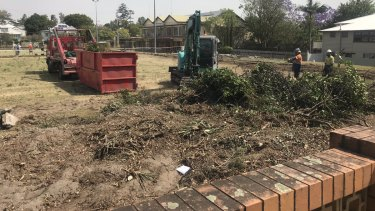 The former Macgregor Green had workers on-site on Tuesday.