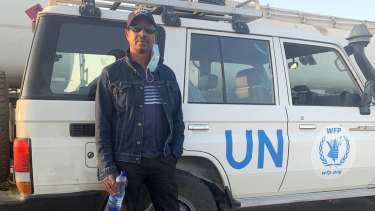 """Tesfahum """"Tess"""" Wubneh is thankful for the help he received from the UN and the Australian embassy, but is worried about dozens of Australians trapped in Tigray."""