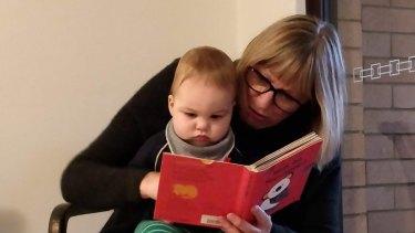 Robyn Hamblin and her 16-month-old grandson Sammy.