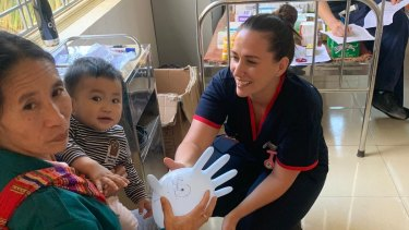 Nurse Renee Flynn in a regional health clinic in northern Vietnam.