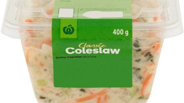 Woolworths has announced a recall of its store-brand coleslaw due to Salmonella fears.