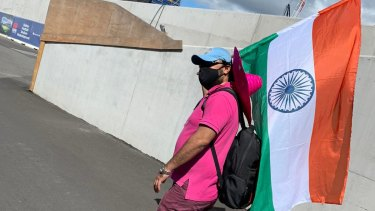 Krishna Kumar on day three of the Sydney Test.