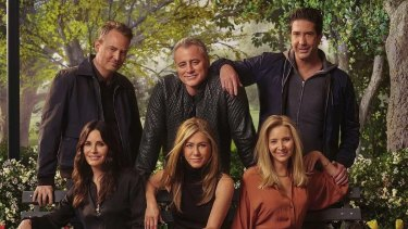 Clockwise from top left: Matthew Perry, Matt LeBlanc, David Schwimmer, Lisa Kudrow, Jennifer Aniston and Courtney Cox.