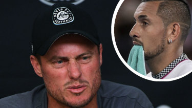 Lleyton Hewitt and Nick Kyrgios