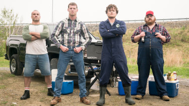 Some of the cast of Letterkenny, from left to right: Joel Gagne (Joint Boy), Jared Keeso (Wayne), Nathan Dales (Daryl), K. Trevor Wilson (Dan).
