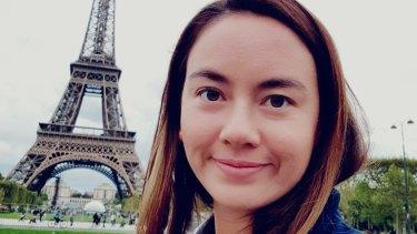 Australian teacher Isabelle White in Paris.