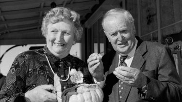 Lady Flo and Sir Joh Bjelke-Petersen, pictured in 1995.