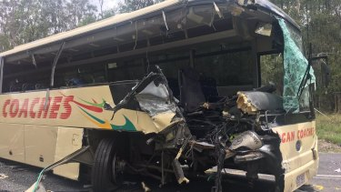The aftermath of the crash at Yarrabilba in 2016.