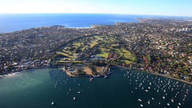 The picturesque, Royal Sydney Golf Club at Rose Bay.