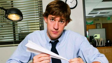 John Krasinski as Jim in The Office.